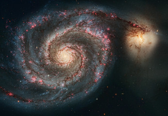 The beauty of the universe: Huge and detailed Whirlpool Galaxy
