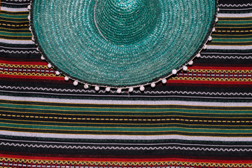 5b17f5ee14d cinco de mayo background. Mexican hat and blanket