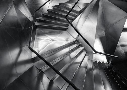 Spiral staircase Metal steel Modern Building Architecture detail