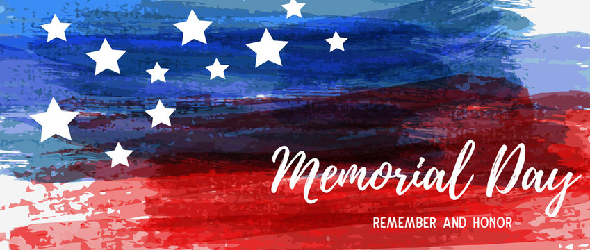 Usa Memorial day grunge background