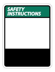 symbol Safety instructions sign label on white background