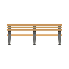 Flat style wooden bench icon. Vector illustration