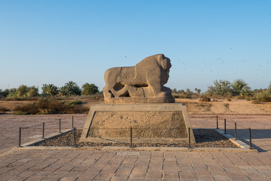 The lion of Babylon, Babylon, Iraq