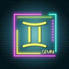 Garden Poster Retro sign gemini neon sign