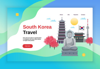 Travel Korea Website Banner