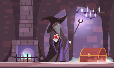 Wicked Magician Illustration