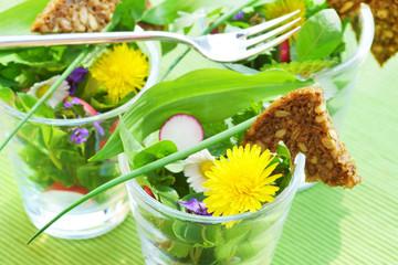 Salat, Frühling, Frühlingskräuter, Wildkräuter, Frühlingssalat, Wildkräutersalat