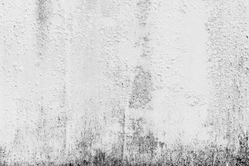 Dirty period of period on white cement or concrete wall texture for background, Empty space.