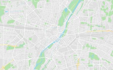 Munich, Germany downtown street map