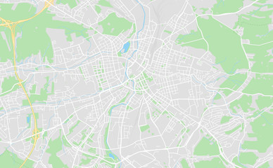 Chemnitz, Germany downtown street map
