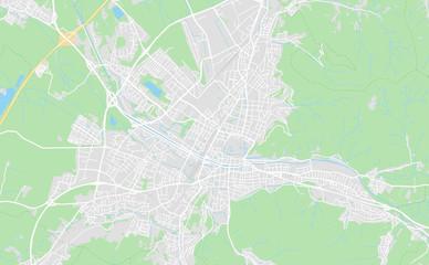 Freiburg, Germany downtown street map