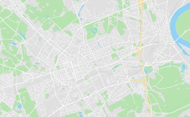Krefeld, Germany downtown street map