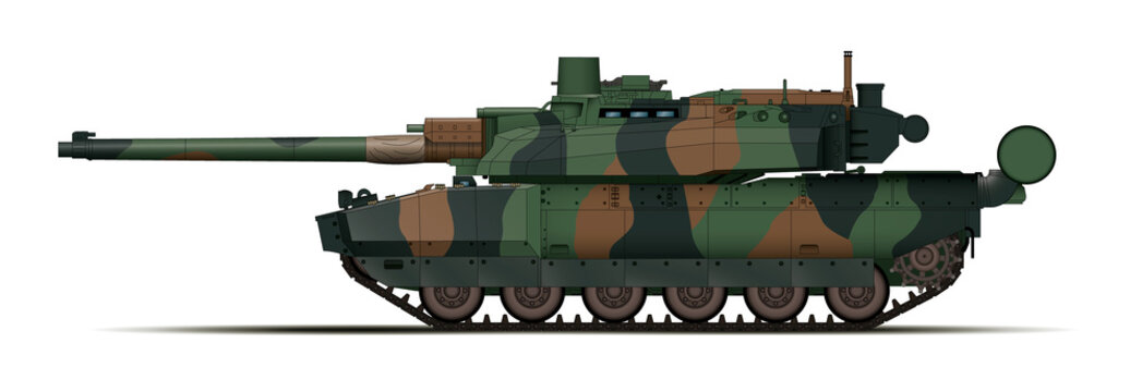 Char moderne camouflage Europe