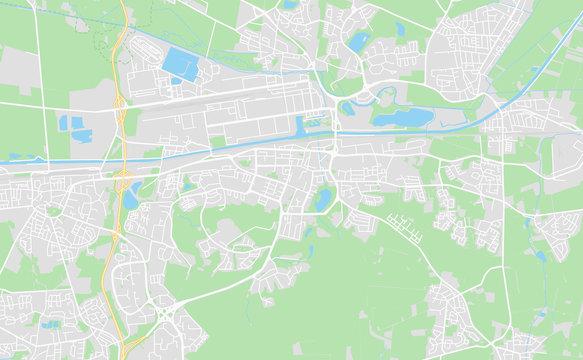 Wolfsburg, Germany downtown street map