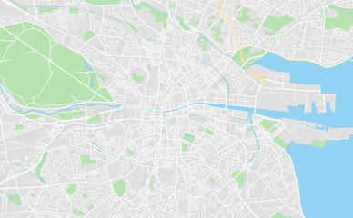 Dublin, Ireland downtown street map