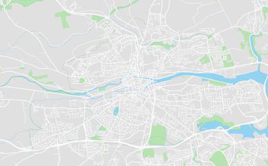 Cork, Ireland downtown street map