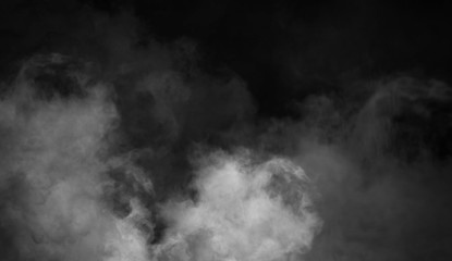 Fog and mist effect on black background. Smoke texture overlays