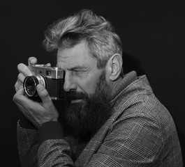 homme barbe photographe