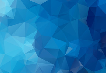 Blue Polygonal Mosaic Background. geometric pattern, triangles background. Creative Business Design Templates. Vector illustration.