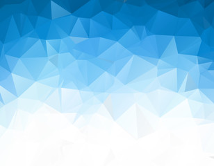 Blue White Polygonal Mosaic Background, Vector illustration, Creative Business Design Templates