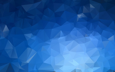 DARK BLUE Low poly crystal background. Polygon design pattern. Low poly vector illustration, low polygon background.