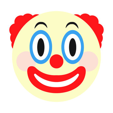 Clown face emoji vector