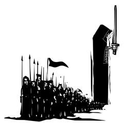 Woodcut Dark Army