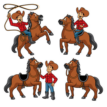 cowboy and the horse set