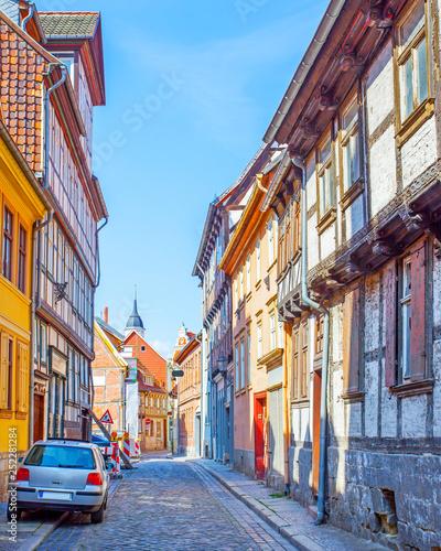 Wall mural Street in Quedlinburg