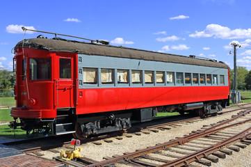 old passenger rail car