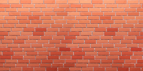 Red-orange brick wall texture. 3d render