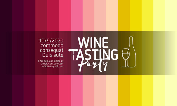 Design for wine events, parties, celebrations or presentations. Background wine colors, gradients and colored stripes.