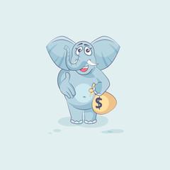 elephant sticker emoticon extend hand