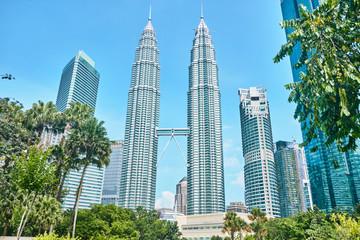 Petronas Towers in Kuala Lumpur.  Fotomurales