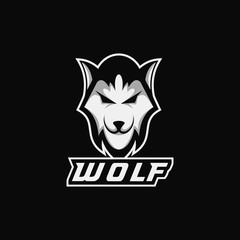 wolf head e sport mascot vector illustration amazing design for your company or brand