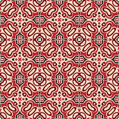 seamless pattern mosaic tile vector persian carpet