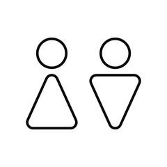 WC bathroom toilet icon, WC bathroom toilet symbol, WC bathroom toilet sign. vector.