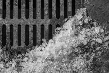 Street Drain with Ice
