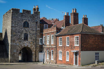 West Gate, Medieval Town Walls, Southampton, Hampshire, England, UK