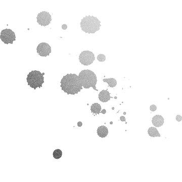 Silver Foil Ink Paint Splatters