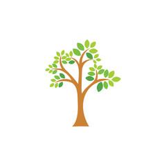 simple gradient tree symbol vector