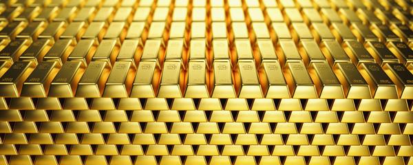 Gold bar close up shot. wealth business success concept image