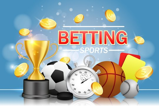 Sports betting vector poster banner design template