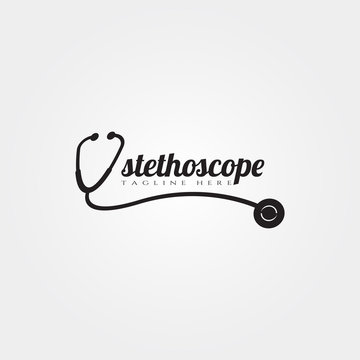 stethoscope icon template, creative vector logo design, illustration element.