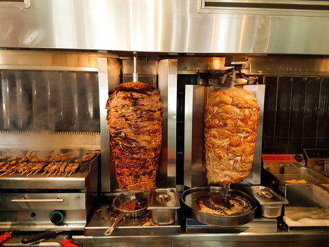 giros meat is baked in the barbecue greek name gyros
