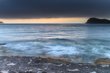 Sunrise Seascape with Low Cloud and Sea Fog