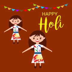 Vector illustration of a Colorful Promotional Background for Festival of Colors Holi Celebration.