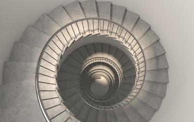Fototapeten Spirale Generic round spiral staircase