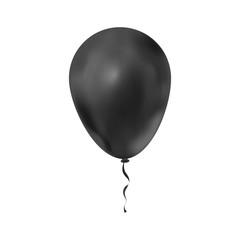 Black luxury balloon isolated on white
