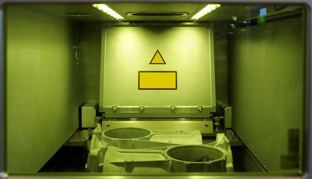 Laser sintering chamber